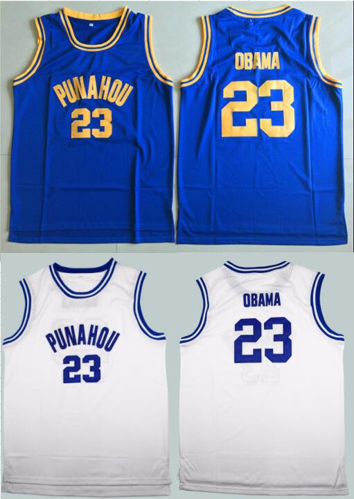 buy online 6149d d80bf Barack Obama 23 Punahou High School Basketball Jersey ...