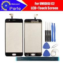 5.0 אינץ UMIDIGI C2 מגע מסך זכוכית 100% אחריות המקורי החדש זכוכית לוח מגע מסך עבור UMI C2 + כלים + דבק