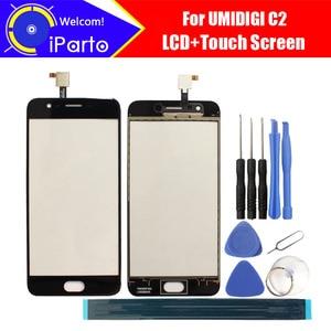 Image 1 - 5.0 بوصة UMIDIGI C2 شاشة تعمل باللمس الزجاج 100% ضمان الأصلي جديد الزجاج شاشة باللمس على حامل ل UMI C2 + أدوات + لاصق