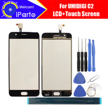 5.0 pouces UMIDIGI C2 écran tactile verre 100% garantie Original nouveau verre panneau écran tactile pour UMI C2 + outils + adhésif
