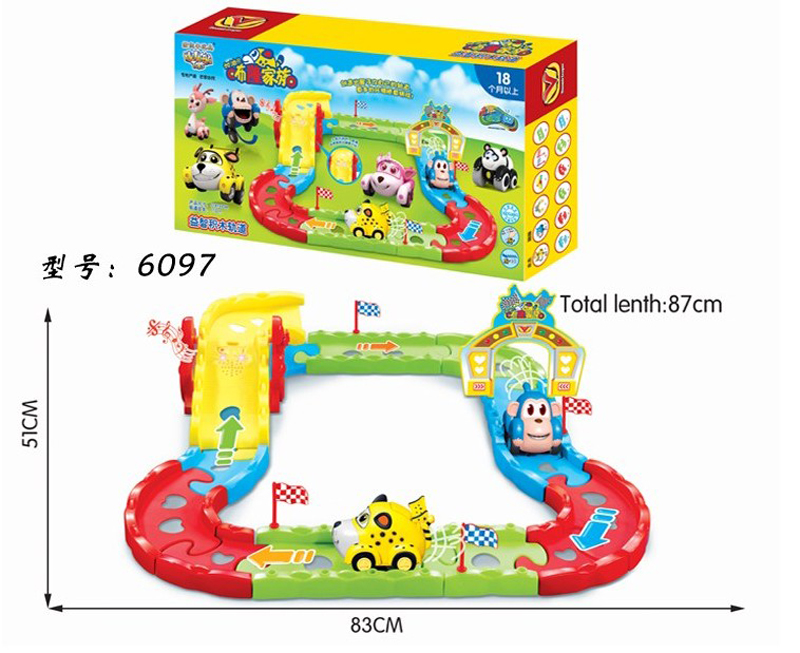 hot and new products cartoon electric rail car toys plastic race track shantou toys for childrens