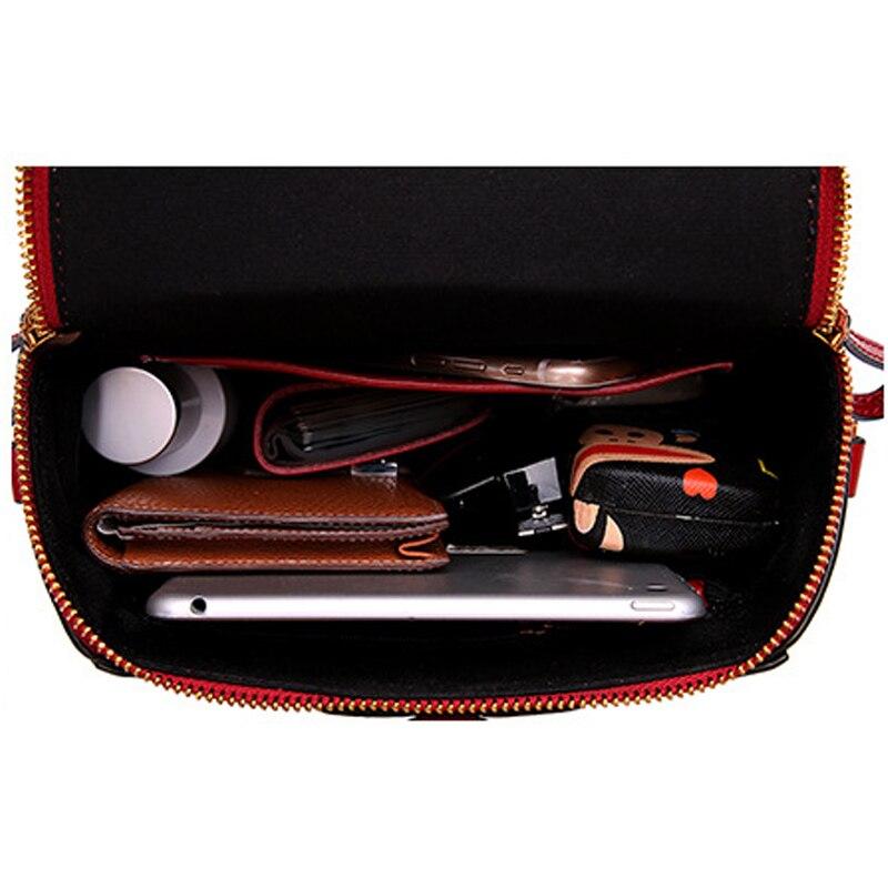 Luxus Weibliche Rot Handtaschen Leder Echtem Niedliche Umhängetaschen wine Aus brown Und Red Messenger Tasche Green Frauen Geldbörsen Schultern PrnwExSdP1