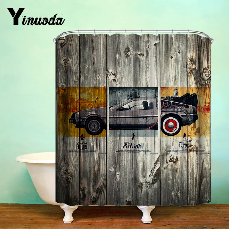 Yinuoda New Back to the Future board Bathroom Curtains Waterproof Print Shower Curtain Fabric Curtain For The Bath 12 Hooks