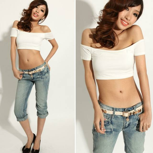 93c969e5c9 Free Shipping Sexy Women s Small Vest Shorts T-Shirts Wrapped Chest  Nightclub Shirts Strapless Tank Tops 76007+GIFT