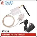 2 sets SV654 868 MHz RS232/DB9 Interfaz 500 mw Transmisor Inalámbrico Y el Receptor