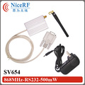 2sets  SV654 868MHz RS232/DB9  Interface 500mw Wireless Transmitter And Receiver