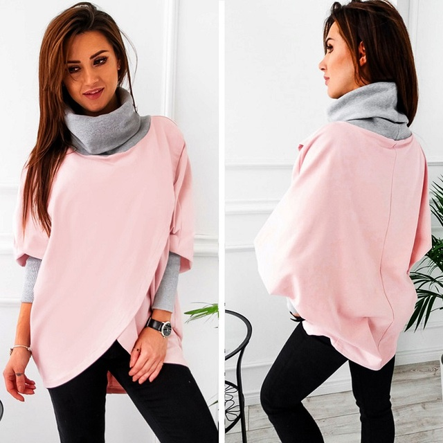 Women Hoodie Casual Solid Long Sleeve Loose Tops Pullover Sweatshirt