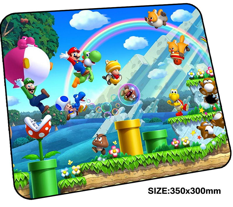 Mario pad mouse computador gamer mause pad 350x300mm padmouse locked edge mousepad ergonomic gadget High-end office desk mats