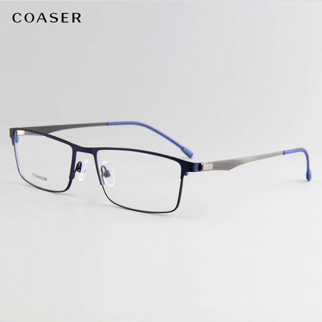 592f16eedc New Super Light Titanium Alloy Clear Glasses Frame Men Wide Square female eyeglass  frame Optical myopia Eyewear spectacle frame