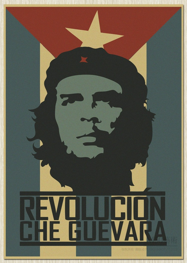 retro Che Guevara posters kraft paper Wall Poster Big Room Photograph Prints Cuba soldiers Revolution