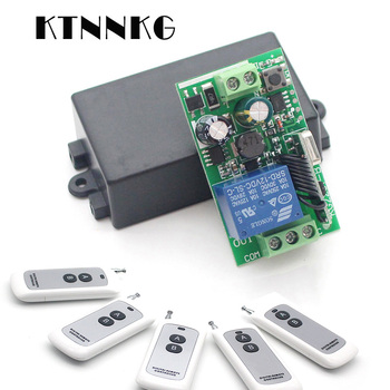 цена на AC110V 220V 250V 1CH Wireless Remote Switch DIY Relay Module Smart home intelligent Receiver , RF Transmitter ,433MHz