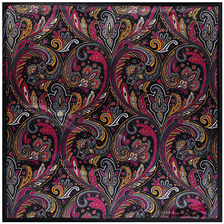 Scarves Print Silk Satin...