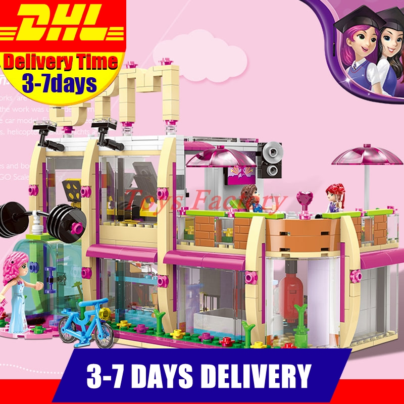DHL XINGBAO 12002 New 905Pcs City Girl Series The Gym Club Set Building Blocks Bricks Toys Model For Children As New Year Gifts wange mechanical application of the crown gear model building blocks for children the pulley scientific learning education toys