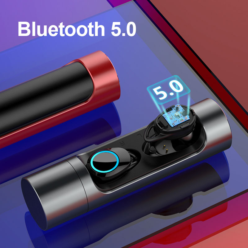 $34.47 Bluetooth 5.0 Wireless Earphone IPX7 Waterproof Swimming Earphones Super Bass HiFi Bluetooth Headset for Meizu Sony iPhone 7 8 6