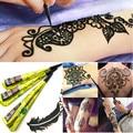 2 Unids Golecha Indio Natural A Base de Hierbas Henna Conos de Seguridad Negro Tatuaje de la Falsificación Impermeable Pasta Mehendi DIY Arte Corporal Tinta Del Tatuaje pluma