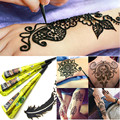 2Pcs Golecha Indian Natural Herbal Henna Cones Black Safe Waterproof Fake Tattoo Paste DIY Body Art Mehendi Tattoo Ink Pen