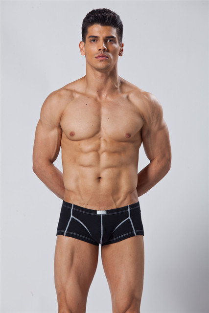 Gay Promotion Muscle Mens Underwear Men Boxers Shorts Mens Comfortable Healthy 2015 High Quality New Fashion Style 100 Cotton