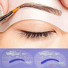 Новый набор трафаретов для груминга коррекции макияжа инструменты
