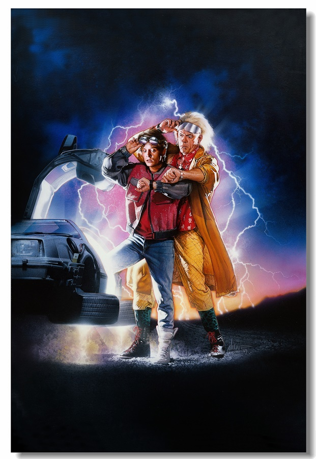 Custom Canvas Wall Decals Michael J. Fox Poster Back To The Future Wall Sticker Office Wall Mural Vintage Home Decoration #0207#