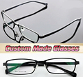 Full-frame de aleación de aleación de estilo minimalista cadena ángulo Óptico Por Encargo lentes ópticas gafas de Lectura + 1 a + 6 Miopía-1 a-6