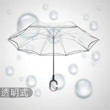 Прозрачный обратный зонтик двойной Слои вишни перевернутый зонтик дождь Для женщин C-крюк Ветрозащитный складной зонтик