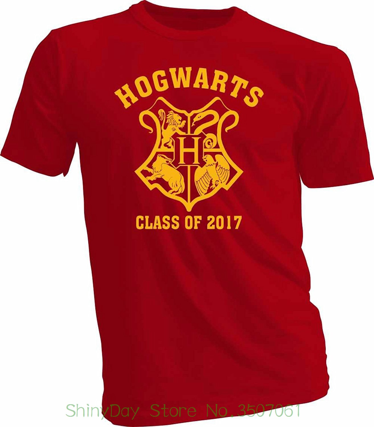 2018 Short Sleeve Cotton T Shirts Man Clothing Hogwarts Alumni Class Of 2017 Men's T-shirt