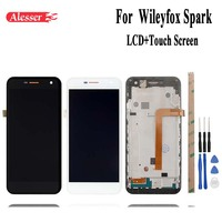 Alesser 5.0inch Black White For Wileyfox Spark LCD Display+Touch Screen Panel Screen Assembly Repair Parts+Tool +Adhesive