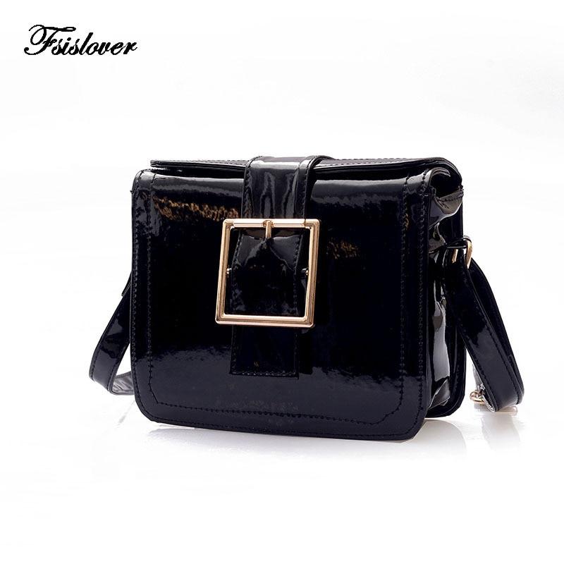 FSISLOVER Fashion Designer handbags Women Bag Solid Girls Bags for Girls PU Leather Women Messenger Bags Free Gift Drop Shopping