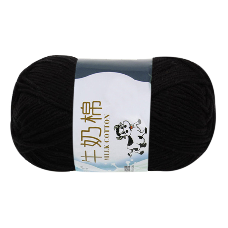 US $1 81 8% OFF|1 group Milk Cotton wool Yarn For Hand knitting  Soft(black)Line rough about 2 5mm-in Thread from Home & Garden on  Aliexpress com |