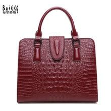 BRIGGS New Women Handbag Female Fashion Casual Tote Bag High Quality Genuine Leather Handbag Solid Women Shoulder Messenger Bags цена 2017