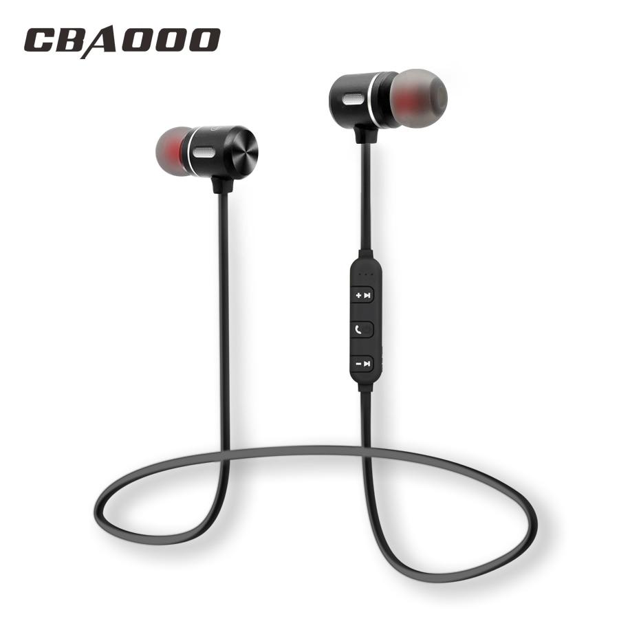 CBAOOO Auricolare Senza Fili di Bluetooth di Sport Auricolare Bluetooth Auricolare Magnetica Hifi Stereo Con Il Mic per Android ios