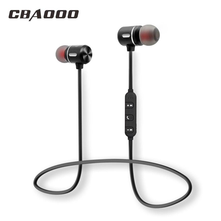 CBAOOO Drahtlose Bluetooth Kopfhörer Sport Headset Bluetooth Hörer Magnetische Hifi Stereo Mit Mic für Android ios