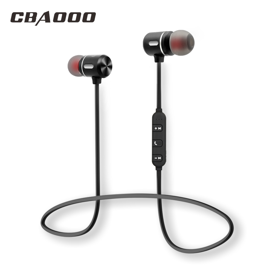 CBAOOO Wireless Bluetooth Earphone Sport Headset Bluetooth Earpiece Magnetic Hifi Stereo With Mic for Android ios hot h05 bluetooth earphone leather business style hands free stereo headset fashion headphone with mic a2dp for android ios