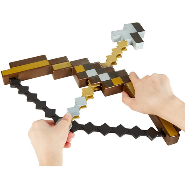 Hot sell Minecraft toy pixel Mosaic Minecraft bow and