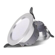 цена на LED 3Color Downlight Discolourable 5W Spot LED Round Recessed Spot Light AC220V Led Bedroom Kitchen Indoor Spot Lighting