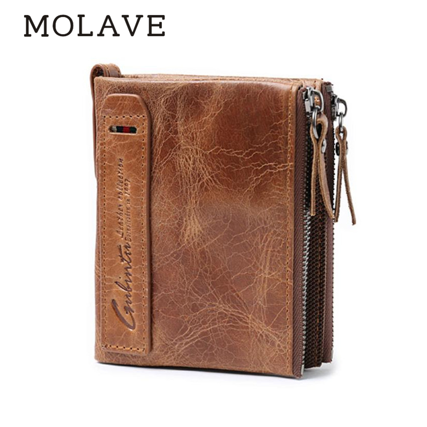 MOLAVE Wallets Wallet Male Solid CardHolder Zipper Men Leather ID credit bags Clutch Bifold Coin PUrse Wallet Pockets May28