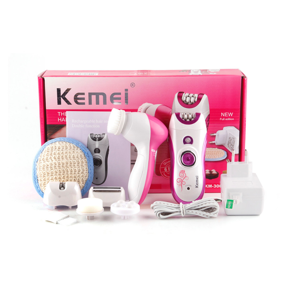 KM-3066 6 in1 Elecric Epilator for Women Hair Removal Machine Multifunctional Lady Shaving Tools for Female Whole Skin Care laser epilator shaving replacement machine head hair removal depilator for g920 y05 c05