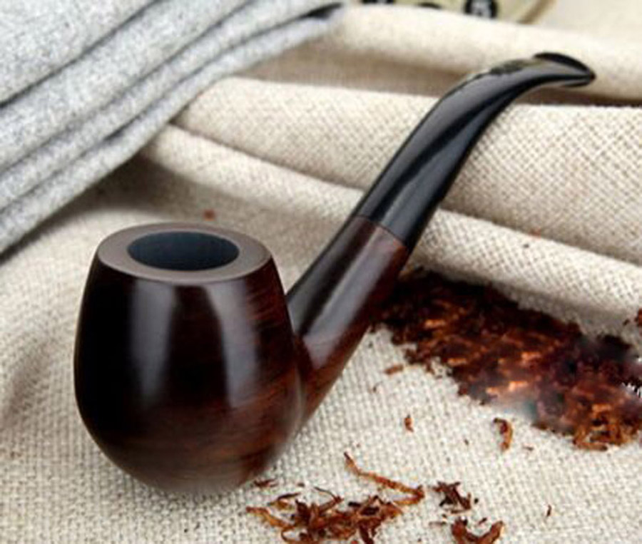 Image 2 - 16 Tools 9mm Filters Classic Handmade Natural Wood Smoking Pipe Set Smoke Tobacco Ebony Wooden Smoking Pipe F508y-in Tobacco Pipes & Accessories from Home & Garden