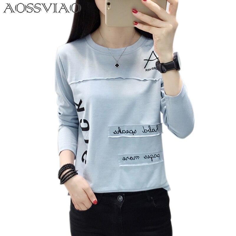 Camiseta Mujer Vetement Femenina Letra Estampado Aossviao 2018 qF8z48w