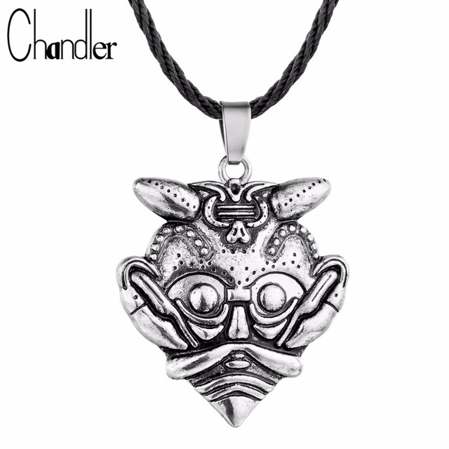 Chandler The Mask Of Loki Pendant Amulet Necklace Scandinavian Norse