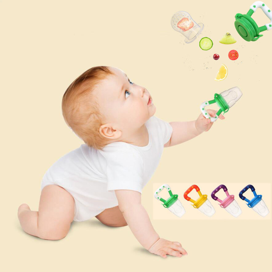 50pc lot Baby Pacifier Silicone Fresh Fruit Milk Nibbler Feeding Food Feeder Safe Kids Supplies Nipple