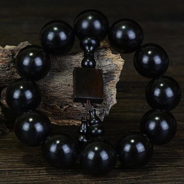 Ebony Buddha Beads Bracelet