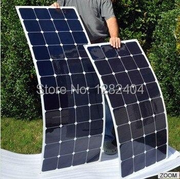 Semi Flexible High Efficiency 135 Watt Solar Panel caravan