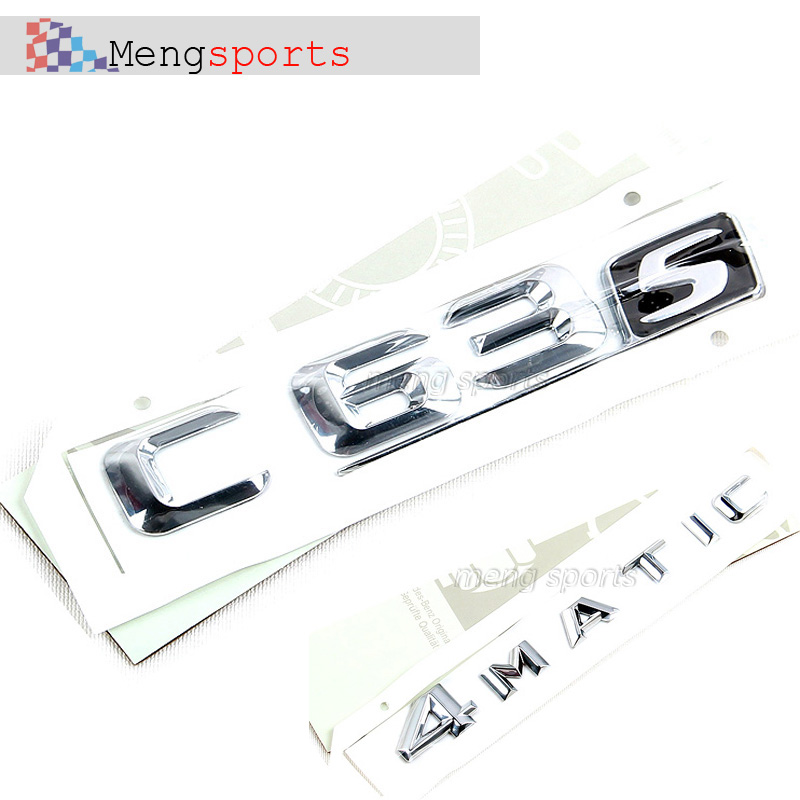 10set C63S C63 4MATIC Chrome Boot Car Badges Embelm Sticker Shipping free