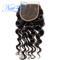 New Star Hair Brazilian Loose Deep 5x5 Lace 3 Part Closures 100%Unprocessed New Star Virgin Human Hair Natural Color Baby Hair