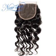 New Star Hair Brazilian Loose Deep 5x5 Lace 3 Part Closures 100%Unprocessed New Star Virgin Human Hair Natural Color Baby Hair