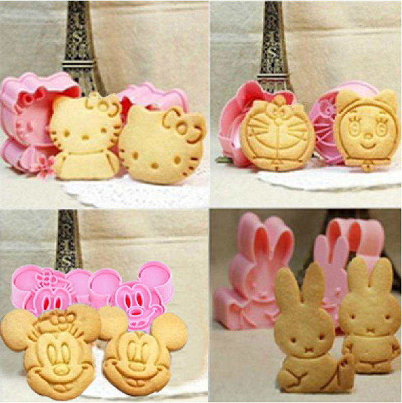 Cartoon Baking Mold Biscuit Mould Cookie Cutter 3D Tre-Dimensional Cartoon Kiks Mould DIY Værktøj til Bagning Claying Stempel