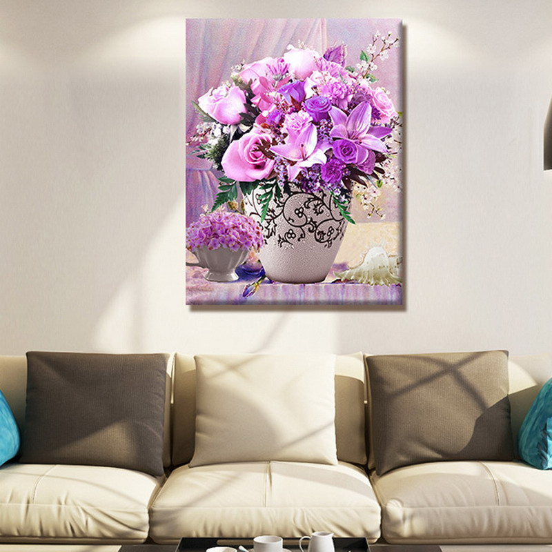 1 PC 5D DIY Diamond Painting flowers 3D Cross Stitch Diamond Embroidery Mosaic Diamonds  ...