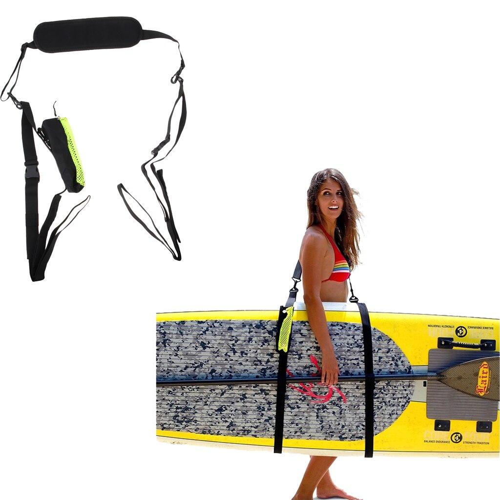 Schwere SUP Surfbrett Strap Longboard Tragegurt, einstellbare Bord Band, Longboard Surfbrett Tragen Strap Sling Schwarz