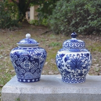 christmas blue and white porcelain ornaments trade new Chinese ceramic general study shelf tank porcelain decoration